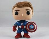 Custom Funko Pop! of Avenger's Captain America (Unmasked)