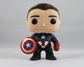 Custom Funko Pop! of Bucky Cap (Bucky Barnes as Captain America)