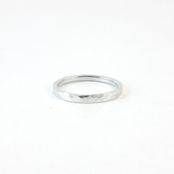 Hammered Aluminum Ring For Women 10 Year Anniversary Gift Etsy