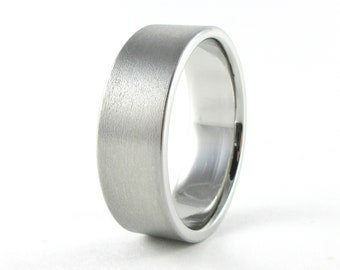Matte wedding ring Etsy