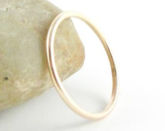 14K Gold Fill Thin Band Ring, Woman's Gold Wedding Ring