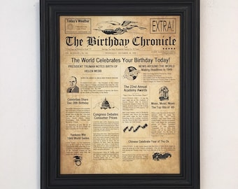 70th Birthday Gift Party Decorations Frame Included 1949 Gifts Happy Ideas
