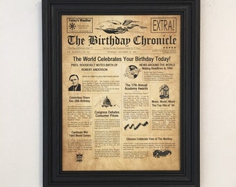 75th Birthday Gift Party Decorations Frame Included 1944 Gifts Happy Ideas