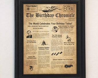 80th Birthday Gift Party Decorations Frame Included 1939 Gifts Happy Ideas