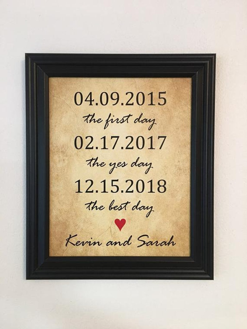30f28ca4696 5th Anniversary Gift 5 Year Anniversary Gifts First Day Yes