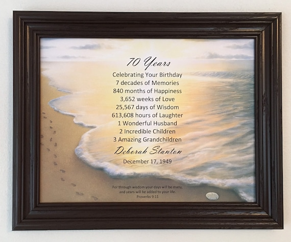 70th Birthday Gifts Party Decoration Religious Gift For Dad For Grandpa Frame Included Born In 1949 70 Years Old Personalized Gift