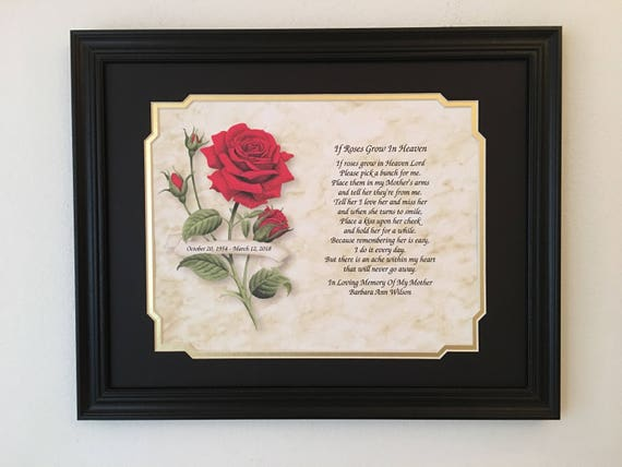 In Memory of Mother Condolence Gifts Sympathy Gift Frame