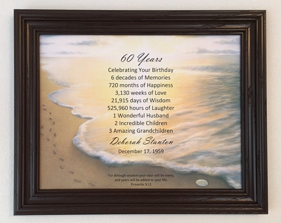 60th Birthday Gifts Party Decoration Religious Gift For Dad
