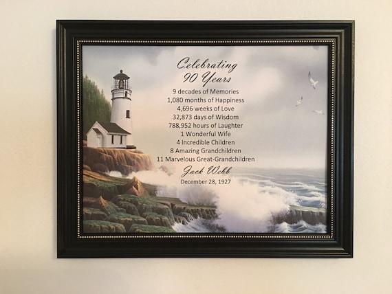 90th Birthday Gift Idea Framed Born In 1928