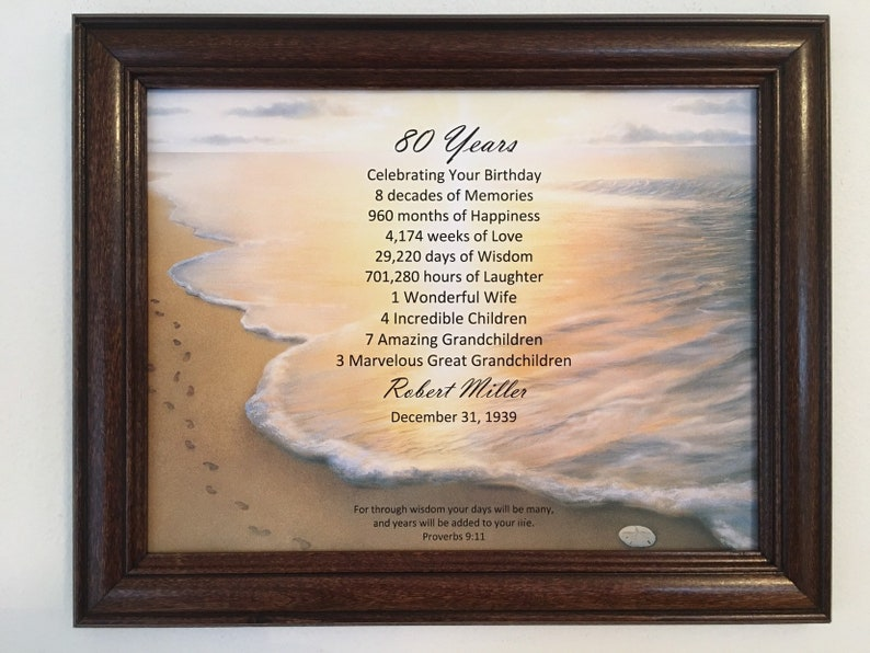 80th Birthday Gifts Party Decoration Religious Gift For Dad