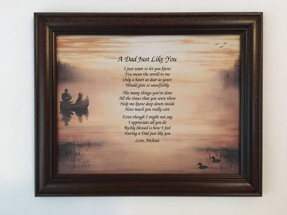 Gift For Dad Birthday Idea Christmas Poem