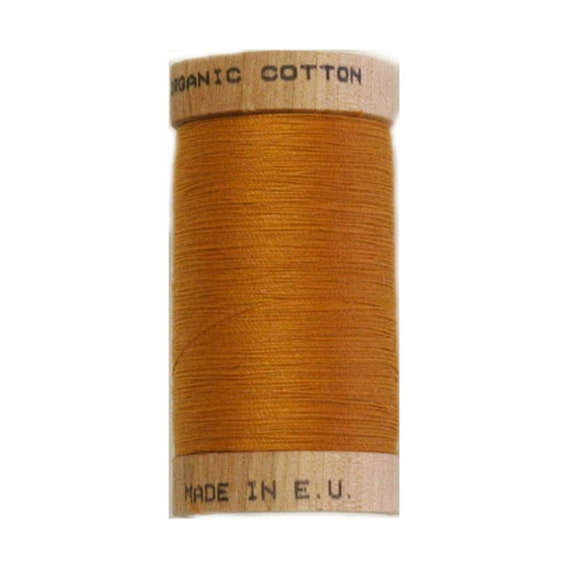 4826-100/% Organic Cotton Scanfil Organic Thread 100 Metre Spool Gold