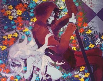 On floor B1- Angels of Death/ Satsuriku no Tenshi Inspired Fanart Print