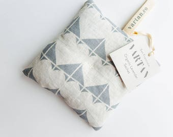 Large Hearts Lavender Sachet in Gray