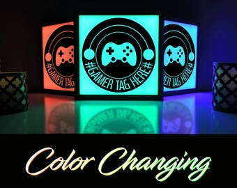 Gaming Decor, Gaming Sign, Gaming Art, Video Game Decor, Custom Gamer Tag, Video Game Wall Art, Gamer Gift, Video Game Room Art