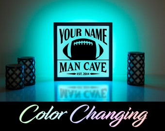 Custom Man Cave Sign Football Sign Football Man Cave Man Cave Decor Personalized Man Cave Sign Man Cave Sign Gift For Him
