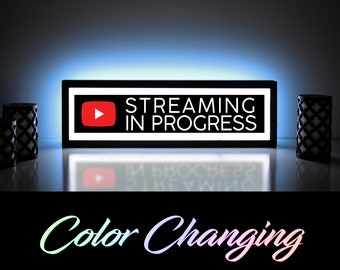 YouTube Streaming In Progress Sign, YouTube Streaming Sign, YouTube Streaming, YouTube Live, YouTube Backdrop, YouTube Merch, LED Sign