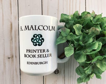 A Malcolm, Printer and Bookseller - Outlander Inspired Coffee Mug