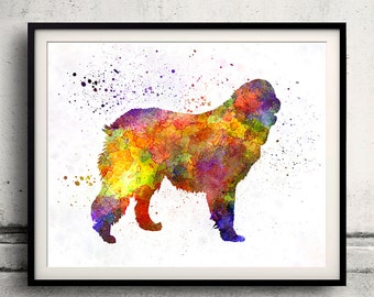 Leonberger 01 in watercolor - Fine Art Print Poster Decor Home Watercolor Illustration Dog - SKU 2016