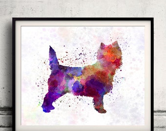Cairn Terrier 01 in watercolor - Fine Art Print Poster Decor Home Watercolor Illustration Dog - SKU 1716