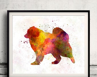 Samoyed in watercolor 8x10 in. to 12x16 in. Fine Art Print  Poster Decor Home Watercolor Illustration - SKU 1246