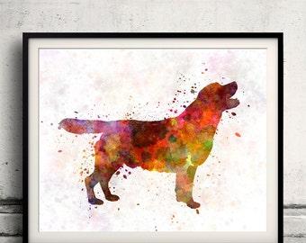 Labrador retriever 01in watercolor 8x10 in. to 12x16 in.  Fine Art Print Poster Decor Home Watercolor Illustration Dog - SKU 1004