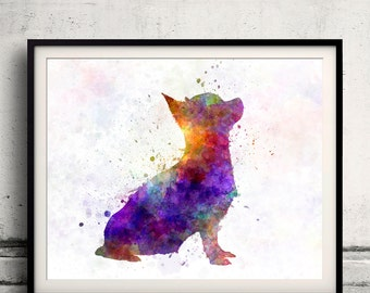 Chihuahua 01 in watercolor 8x10 in. to 12x16 in.  Fine Art Print Poster Decor Home Watercolor Illustration Dog - SKU 1006