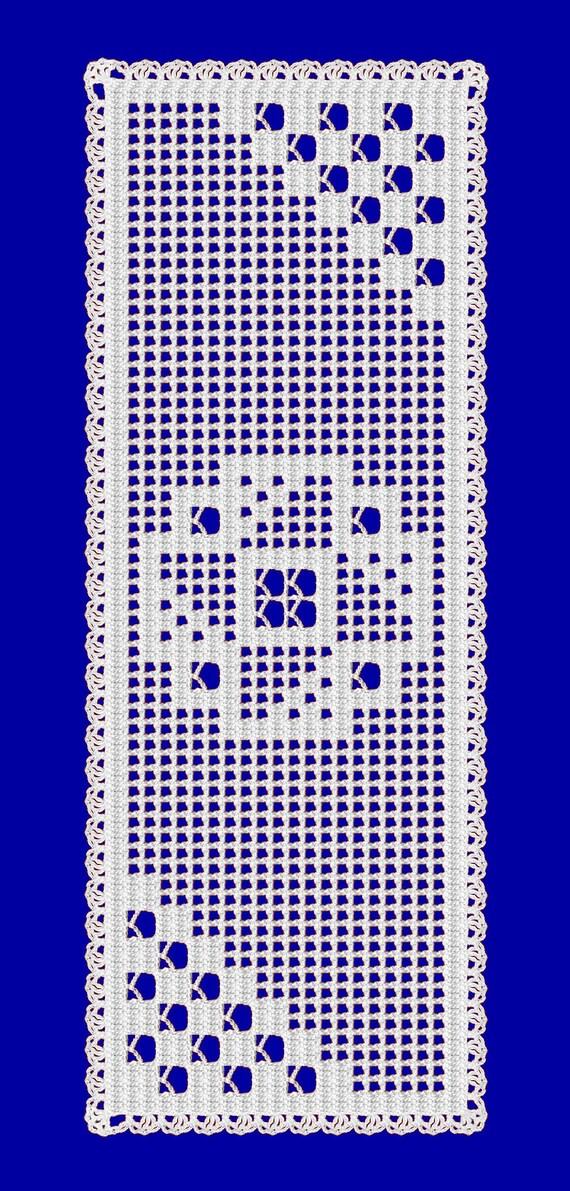 Crochet Table Runner Pattern Filet Crochet Simple Crochet Etsy
