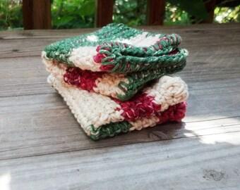 Crochet Washcloth, Cotton Washcloth, Kitchen Decor, Handmade Washcloth, Kitchen & Dining, Dishcloths and Kitchen Towels