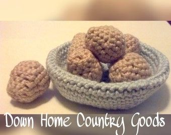 Amigurumi Crochet Eggs w/ Bowl - Plush Toys -Toys - Pretend Play - Toddler Toys - Learning Toys - Play Food - Toys for Girls & Boys - Gifts