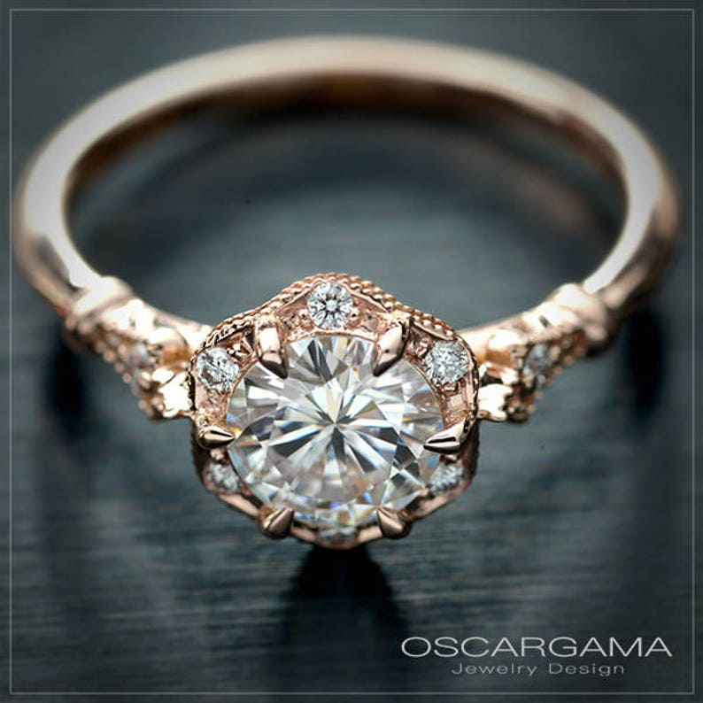 Natural Round Diamond GIA Certified Engagement Ring with image 0