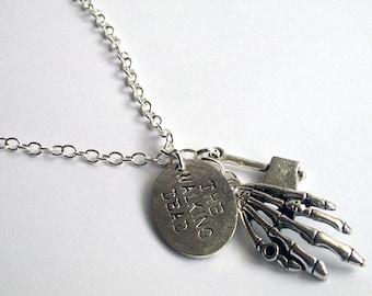 The Walking Dead Necklace ~ Walking Dead Jewellery ~ Zombie Necklace ~ Rick Grimes ~ Walking Dead Fandom