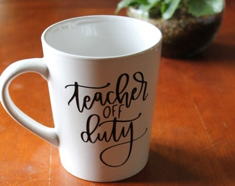 15e0eae6603 Teacher off Duty wine, Wine Glass humor, Funny Stemless Wine Glass, Teacher  gifts