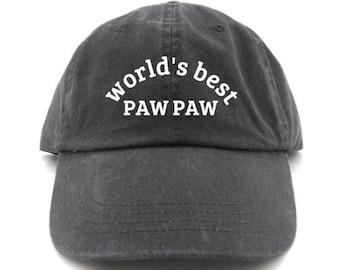 Worlds Best Pawpaw Baseball Cap Gift for Pawpaw Pawpaw Hat Pawpaw Baseball Hat Gift for Dad