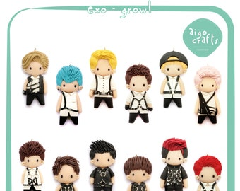Kpop Polymer Clay EXO Growl Cell Phone Charm – Kpop Collection