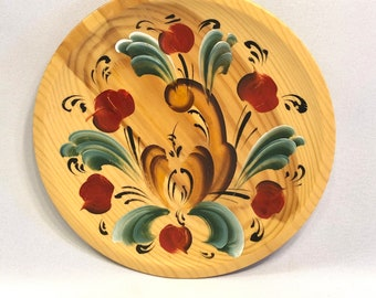 Tole Painted decorative wooden plate