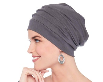 100% Cotton Slouchy Snood Hat for Women | Slouch Hat | Slouchy Beanie | Cancer Hats | Chemo Hats | Hat for Cancer Patients | Head Coverings