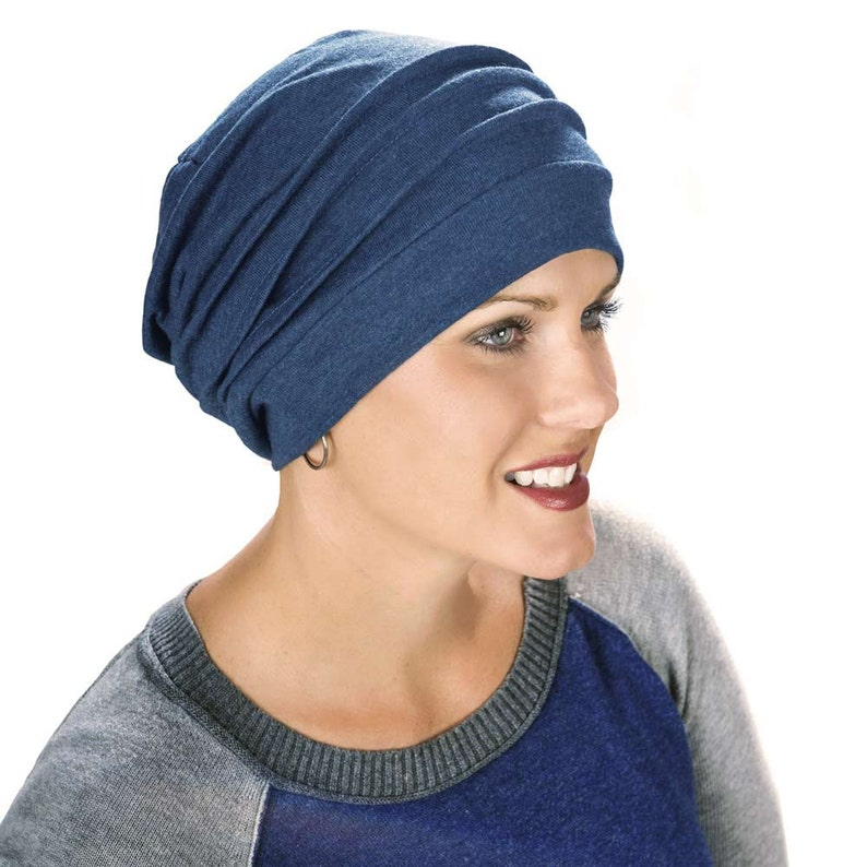 81bb352a21b 100% Cotton Slouchy Snood Hat for Women Slouch Hat Slouchy