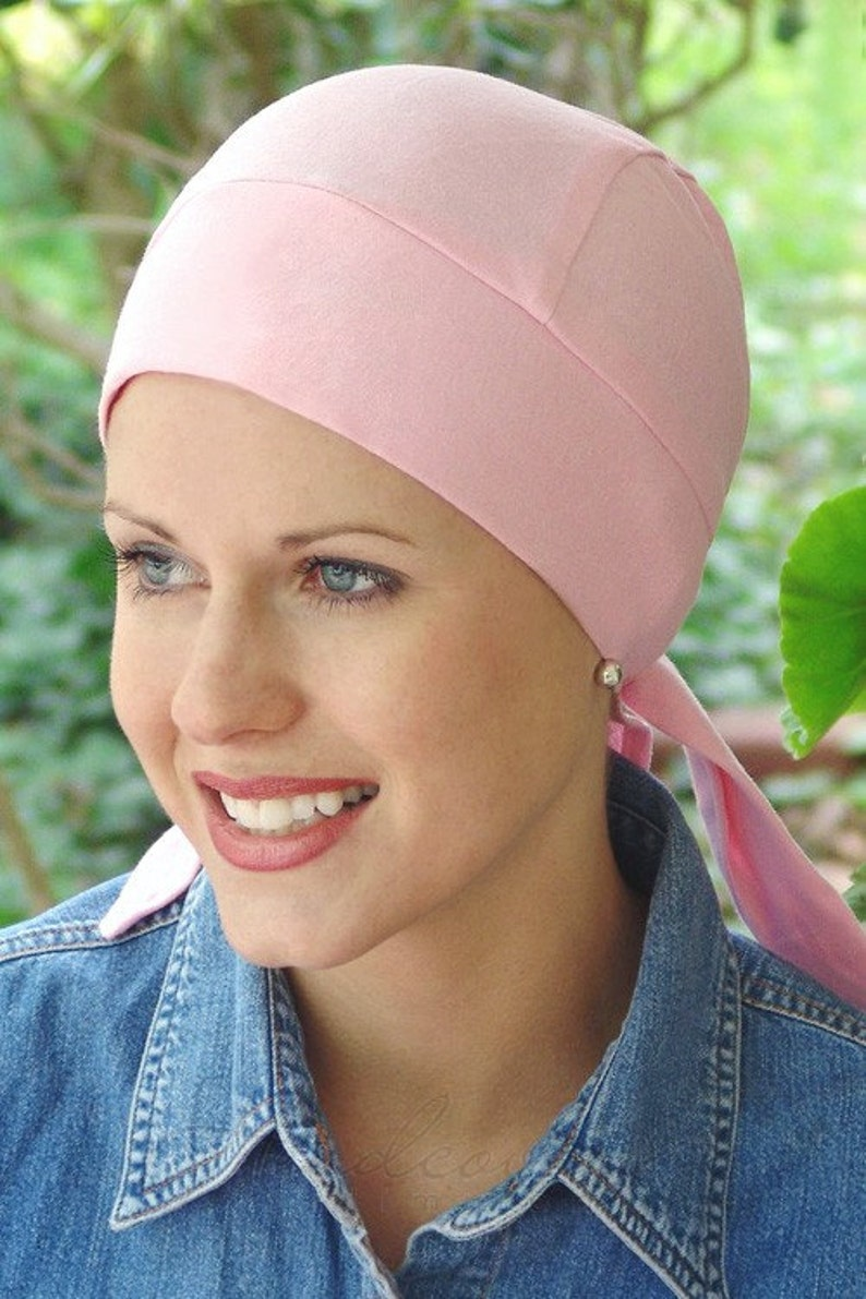 1859510a1ee48 100% Cotton Knit Headwrap Soft DuRag for Cancer Hair Loss