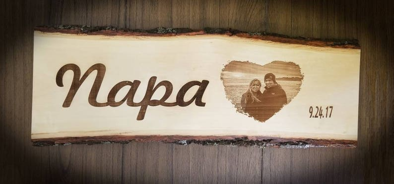 Custom Engraved Wood Plank Photo Engraved onto Wood Custom image 1
