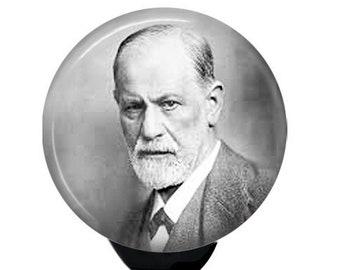 Sigmund Freud. Retractable ID Badge Reel.