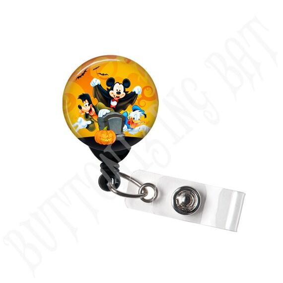 Bobine de Mickey et ses amis Halloween Badge, porte-Badge ID, bobine d'insigne rétractable, automne, Trick or Treat