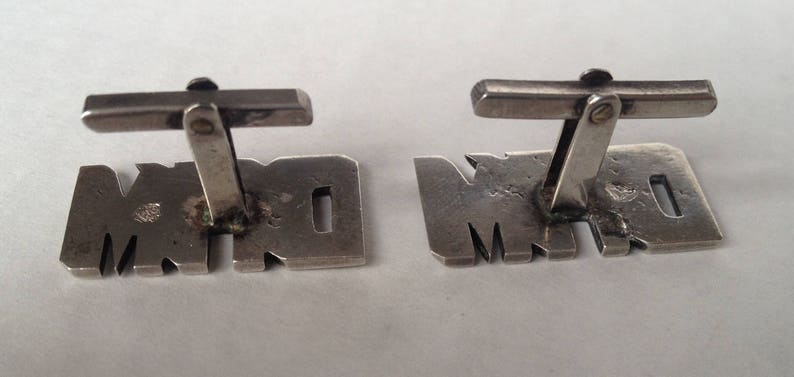 Vintage Sterling Silver Dam Cufflinks