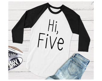 Hi Five Birthday Shirt