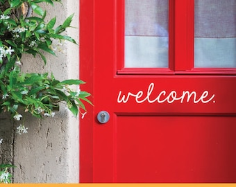 Welcome. Small Decal | Removable Wall Decal Sticker | MS048VC