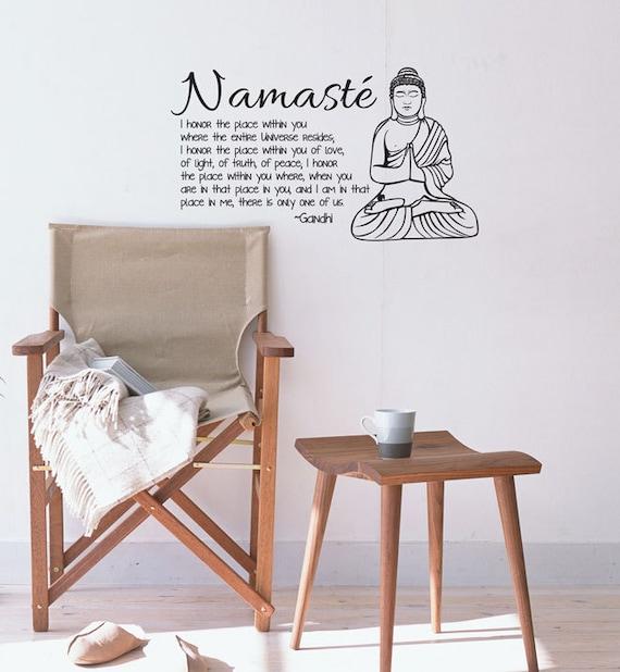 Complètement et à l'extrême Namaste Yoga Zen Méditation Bouddha citation inspirante | Etsy &YG_14