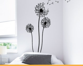 Dandelion Wall Decor Decal | Removable Wall Decal Sticker | MS0102VC