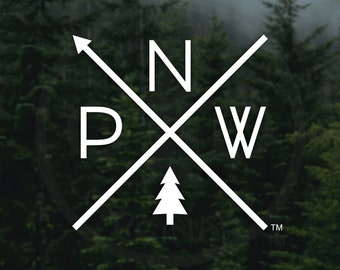 The Original PNW Pride Decal - For Car Windows, Water Bottles, Laptops, Almost Anywhere - Rep the Pacific Northwest everywhere you travel