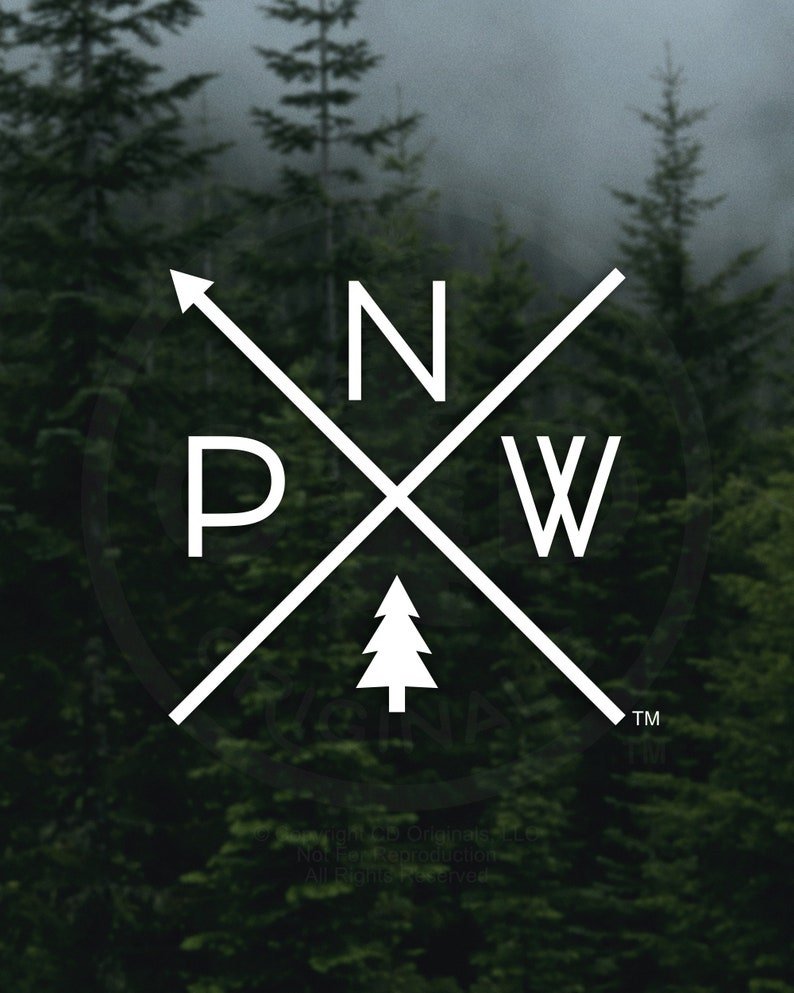 The Original PNW Pride Decal  For Car Windows Water Bottles image 1