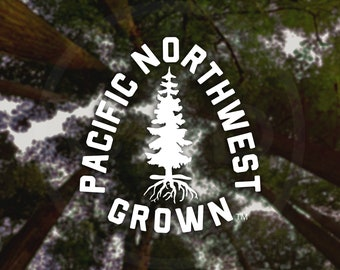 Pacific Northwest Grown Decal - For Car Windows, Water Bottles, Laptops, Almost Anywhere